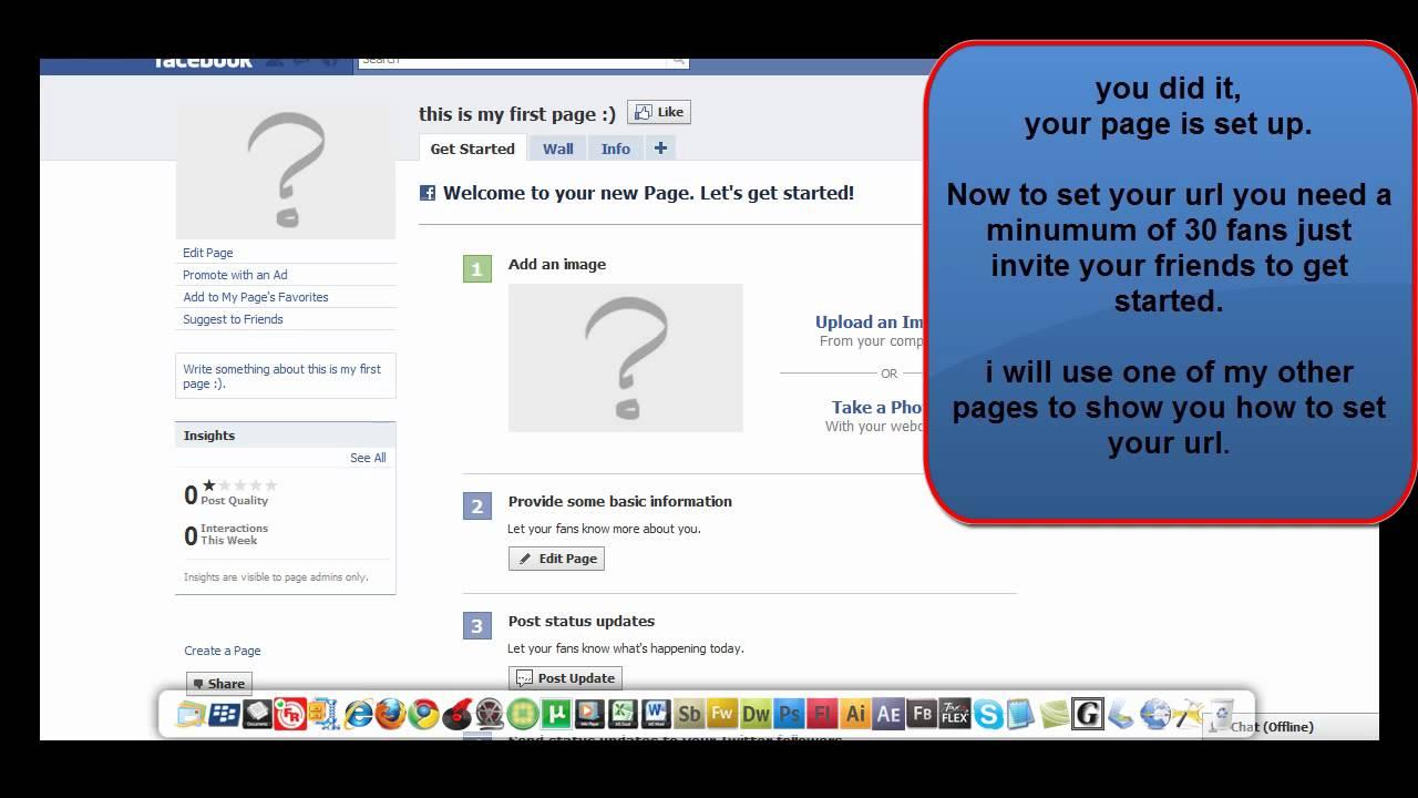 Set Up A Facebook PAGE For Your Business & Set Your Url ( Facebook Web Address )