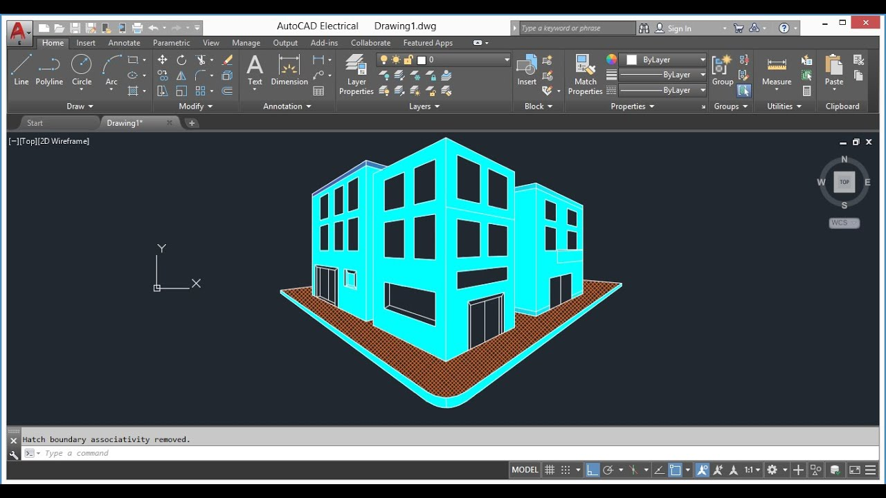 How to create two point perspective view in AutoCAD YouTube
