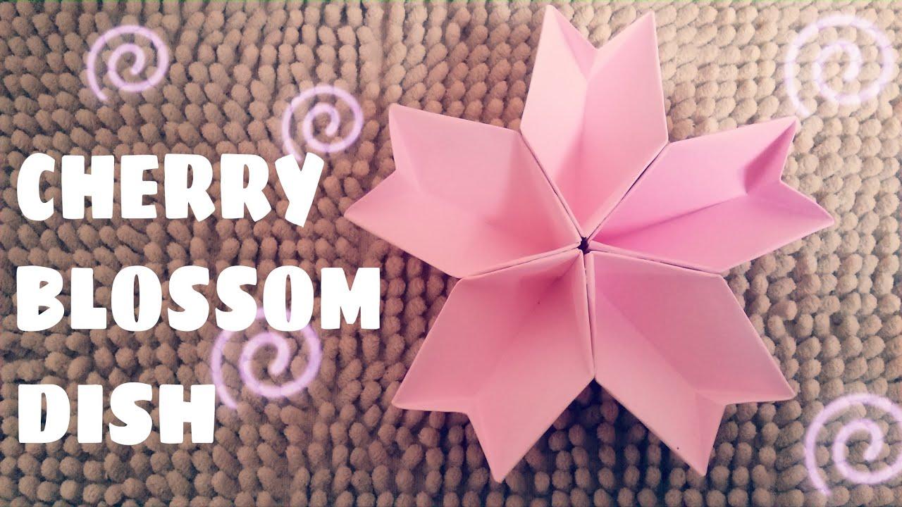 Origami Cherry Blossom Dish - Origami Easy - YouTube - photo#42
