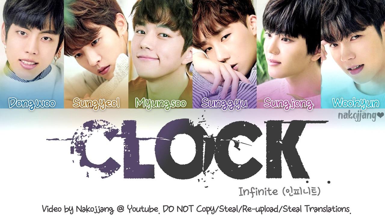 Infinite Clock Color Coded Lyrics Eng Rom Han