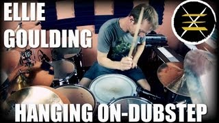 Ellie Goulding-Hanging On-Johnkew Drum Cover-Dubstep Remix