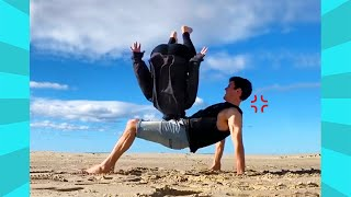 Try not to Laugh: Funny Outdoor Fails When Acting Like Acrobats | Funny Videos