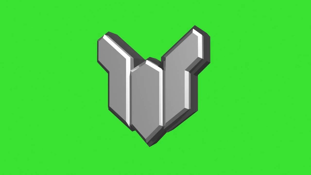 Overwatch 3D Platinum Rank Icon Green Screen YouTube