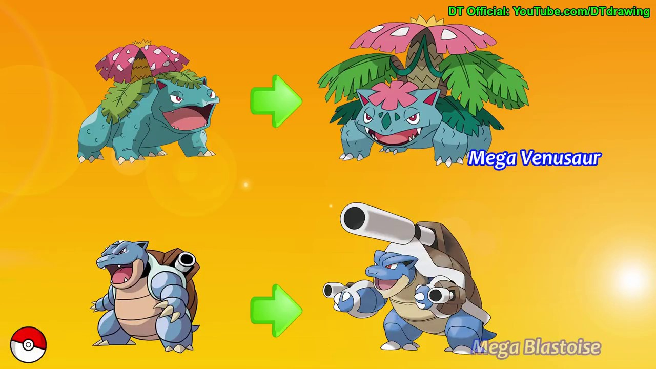 All mega evolution pokemon x and y whole list of mega evolve pokemon youtube - Pokemon tortank mega evolution ...