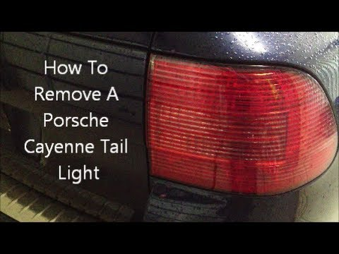 How To Remove A Porsche Cayenne Tail Light Youtube