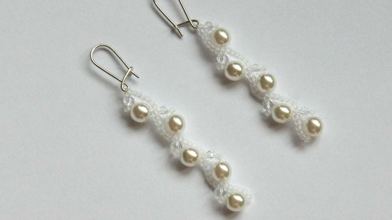 How To Make Long Earrings With Pearls  Diy Crafts Tutorial  Guidecentral