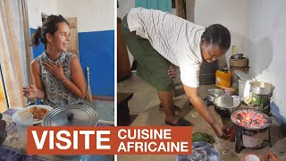 African KITCHEN TOUR in Kenya. We try UGALI with goat and leaves.