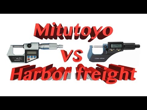 Mitutoyo VS Harbor Freight ....The Digital Micrometer show down