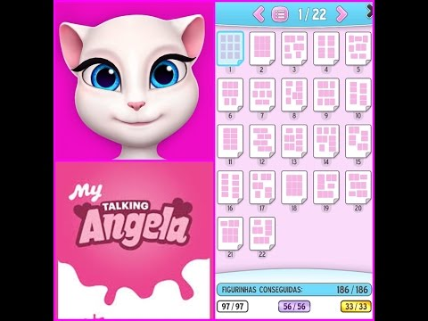 My Talking Angela - Álbum de Figurinhas Completo 22/22 All Stickers