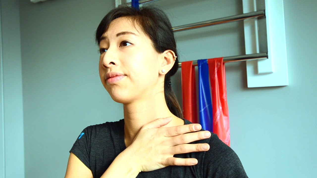 Neck Pain Stiffness Sternocleidomastoid Muscle Stretch Youtube