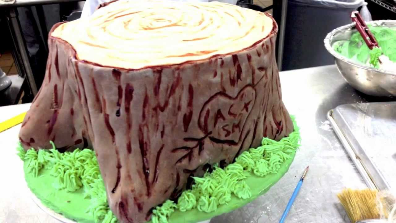 How To Make A Tree Trunk Cake