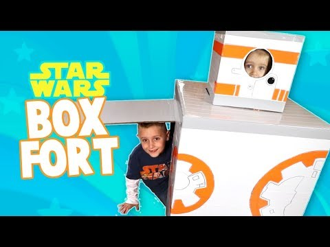 DIY Star Wars Box Fort!!! + Star Wars: the Last Jedi Crafts & Toys by KIDCITY