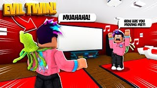 My Evil Twin HACKED MY COMPUTER.. HE CONTROLLED ME! (Roblox Bloxburg)