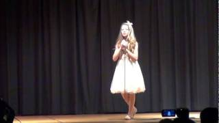 6th grade talent show! Ally performs! Christina aguilera Hurt