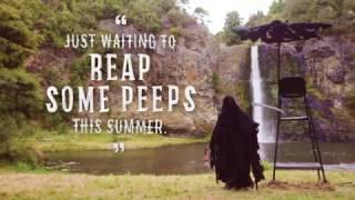 死神って怖い。その死神が常に水辺にいるとかいう超絶ホラーを採用したニュージーランドの水の危険性を訴えた広告
