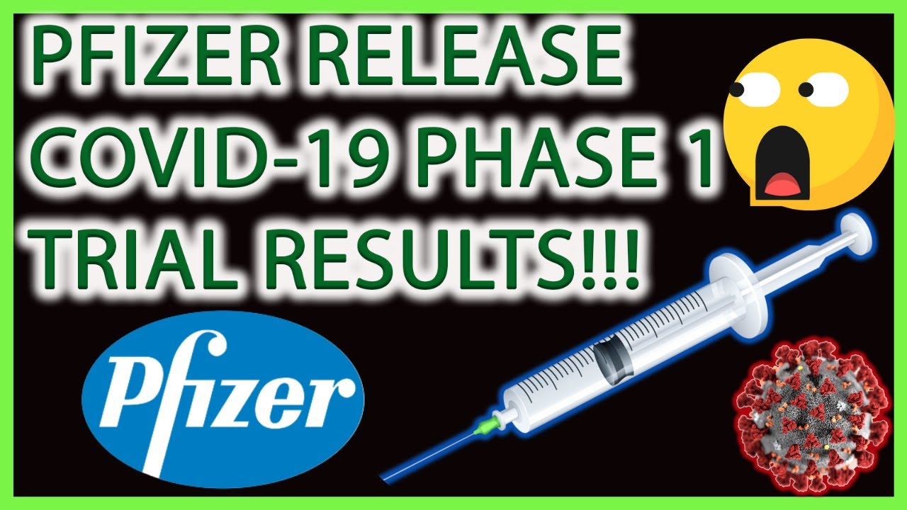 PFIZER INC STOCK PHASE 1/2 COVID-19 TRIAL RESULTS!!! BUY ...