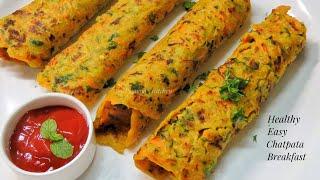 Healthy Aate ka Nashta - Oats and Jowar Cheela Recipe - How to make Cheela in Hindi