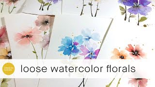 the easiest flowers i've ever painted!