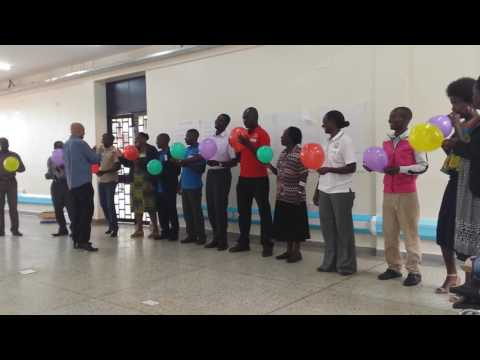 Leading in the Library - Uganda Forum 2 'Balloon Exercise'