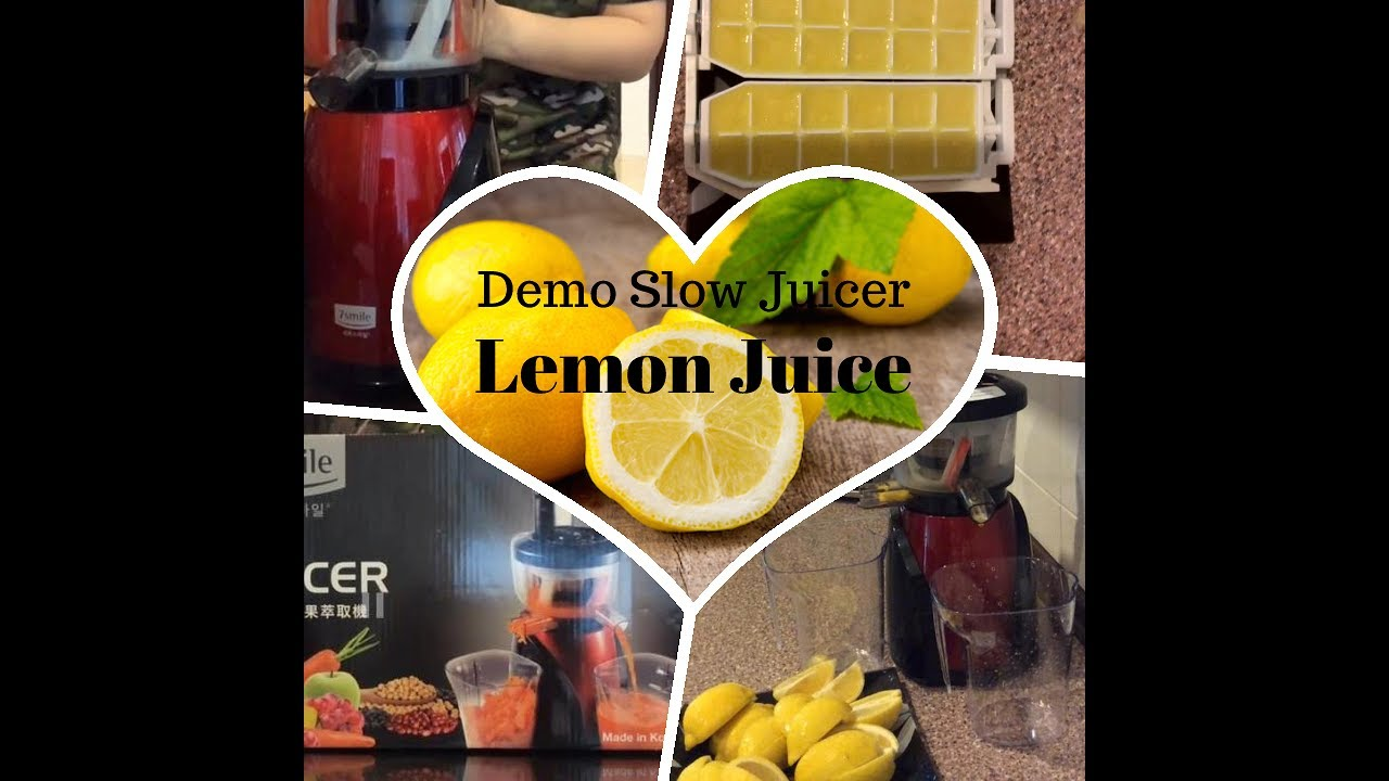 Slow Juicer Lemon : (Demo) Slow Juicer - Lemon Juice - YouTube