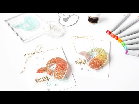 How To Add Color And Embossing To Vellum