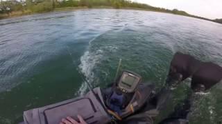 Pleine puissance en float tube a moteur
