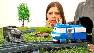 ToyClub шоу - Роботы поезда - Паровозик Кэй ищет Селли