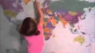 Intelligent child طفله ذكيه معلمه جغرافيا