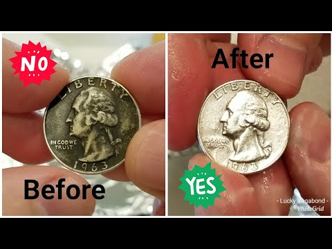 Cleaning Silver Coin - Removing Tarnish Toning - US Junk Constitutional 90% Silver