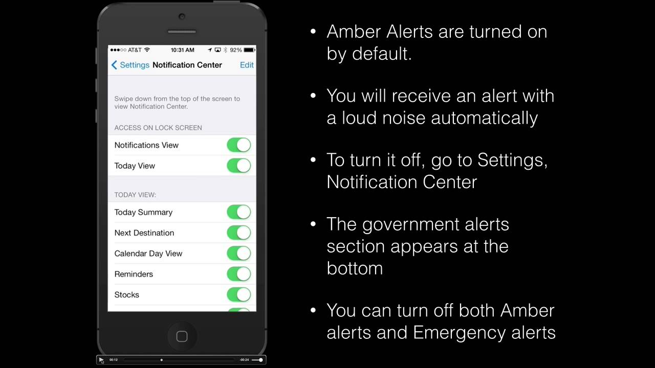 turn off amber alert iphone how to turn alerts or emergency alerts on your 18098