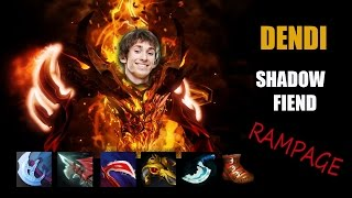 Dota 2 Dendi Shadow Fiend Rampage MMR