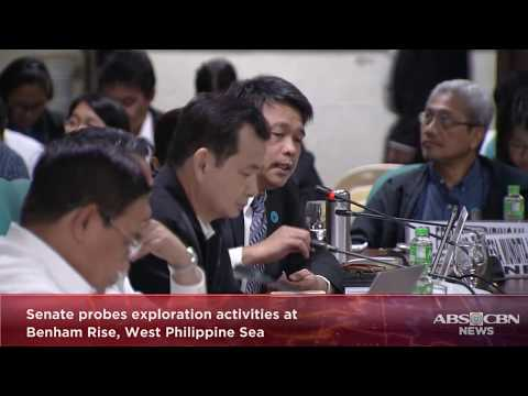 WATCH: Senate probes exploration activities at Benham Rise, West Philippine Sea | 26 February 2018