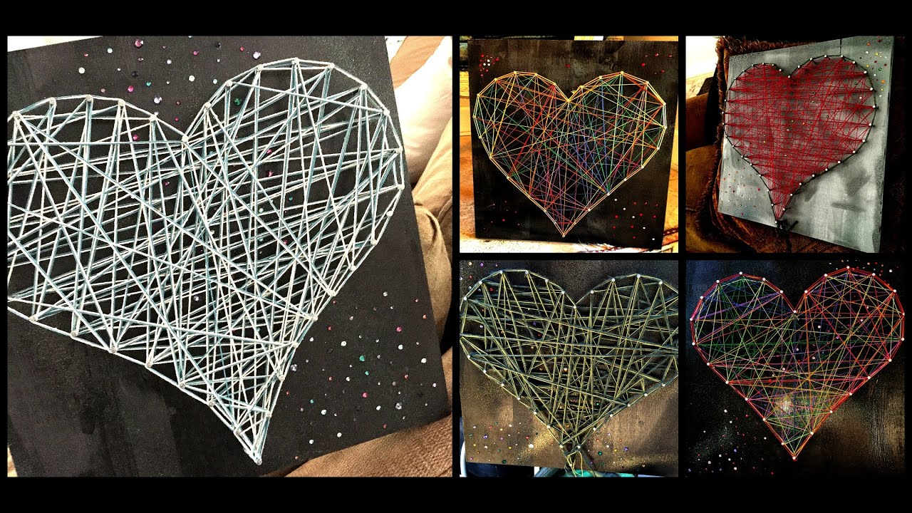 String Art How To Do String Art1 Project Youtube