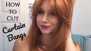 How to Cut Curtain Bangs! Face Framing Bangs - Step by Step Tutorial