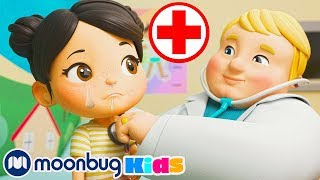 Going To The Doctors (Sick Song)   Nursery Rhymes ABCs & 123s   Moonbug Kids After School