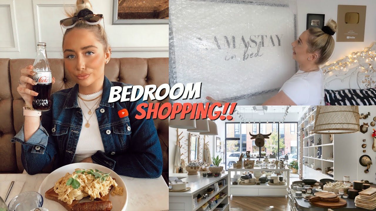 Redecorating My Room!! + BEDROOM SHOPPING!!