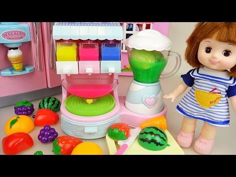 Thumbnail: Fruit Ice cream shaker and Baby doll refrigerator toys play