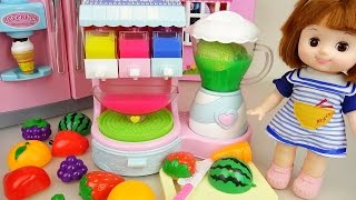 Fruit Ice cream shaker and Baby doll refrigerator toys play thumbnail