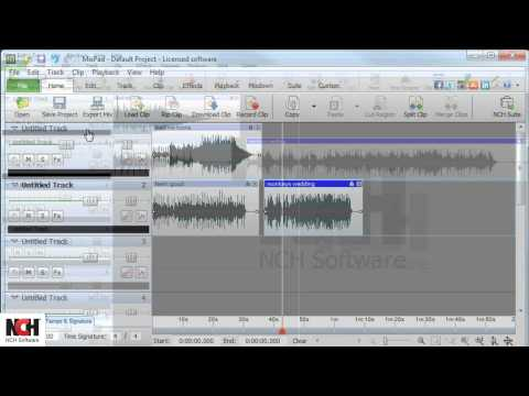 MixPad Audio Mixing Software | How to Navigate