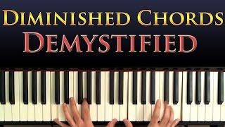 Jazz Piano Harmony - Diminished Chords Explained And Demystified