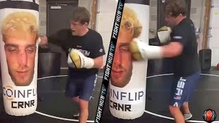 BEN ASKREN LANDING KNOCKOUT HOOKS ON HEAVY BAG TRAINING FOR JAKE PAUL | NEW TRAINING FOOTAGE