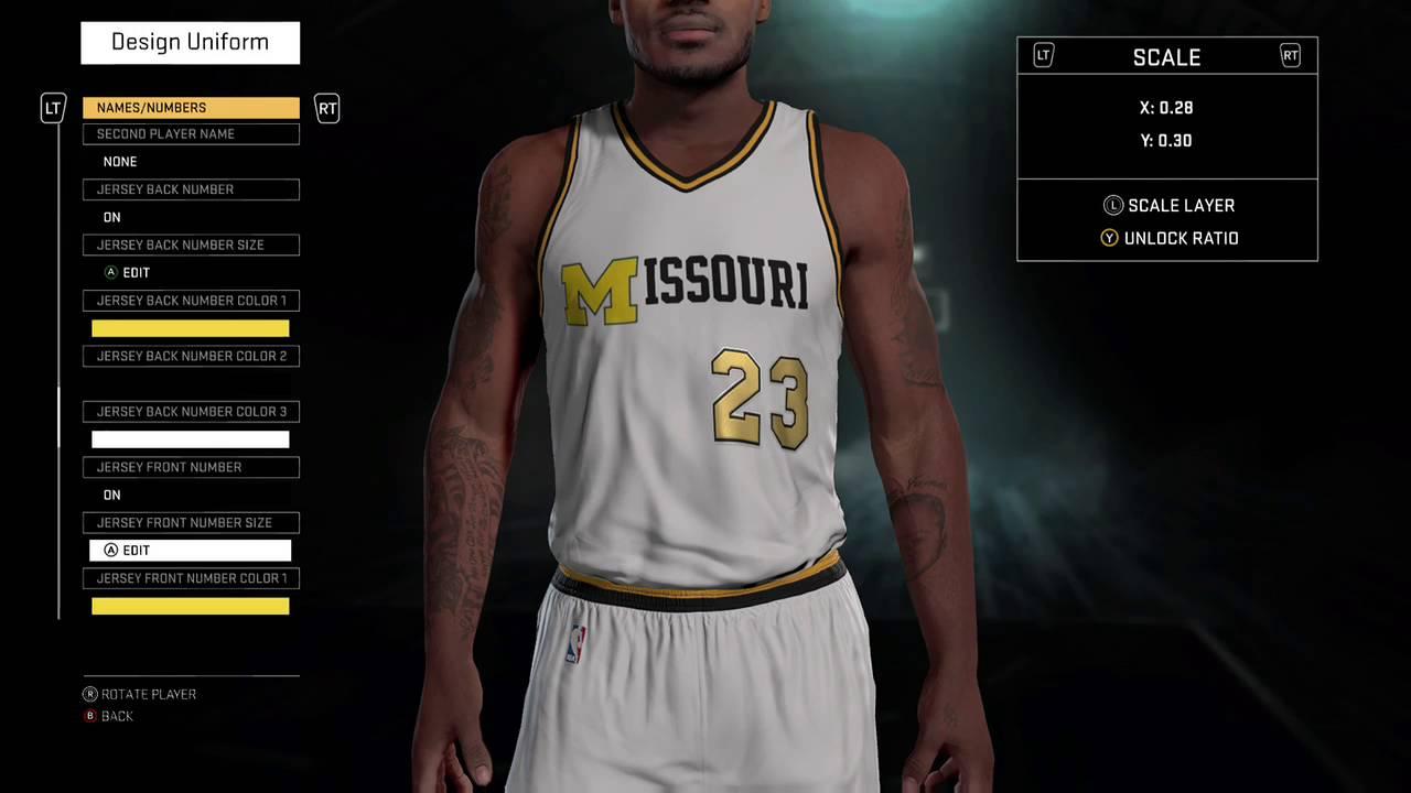 690cecd48c26 NBA 2K16 1993-94 Missouri Tigers Jersey Tutorial - YouTube