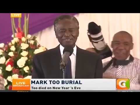 Nicholas Biwott 's Last Message Just before he died. May He Rest in Peace