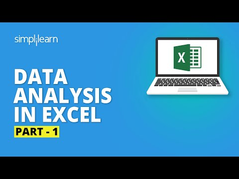 Data Analysis In Excel- 1   Excel Data Analysis Tutorial   Excel Tutorial For Beginners  Simplilearn