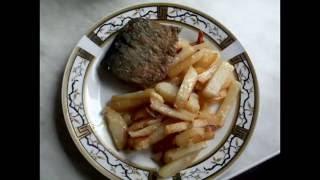 Жареная сельдь и картошка с луком, или как вкусно пожарить картошку и селёдку.