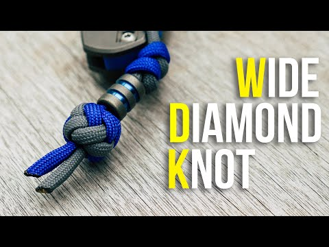 💎Tie A Wide Diamond Knot Tutorial | Wide Paracord Lanyard Knot
