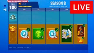 🔴 [LIVE] UNLOCKING SEASON 8 BATTLE PASS IN FORTNITE!