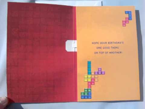 Hallmark Innovations Tetris Birthday Card With Music Youtube