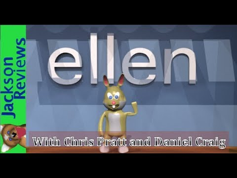 Ellen Degeneres interviews Chris Pratt (speak out game) and Daniel Craig 3D Animation