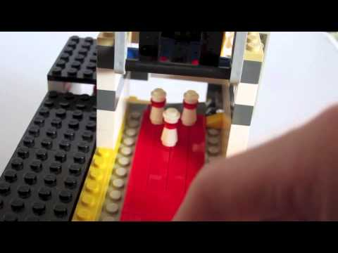 Lego bowling alley with ball return - YouTube
